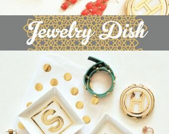 Jewelry Dish Monogram Jewelry Dish Ring Dish Monogram Dish Bridesmaid Ring Dish Bridesmaid Jewelry Dish (EB3125M)