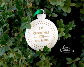 Mr and Mr Ornament, 2.5"