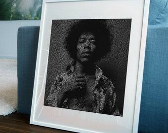 Jimi. Jimi Hendrix Guitar Art Print