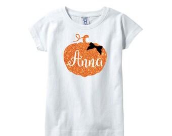 Pumpkin Halloween shirt, Halloween shirt girls, Personalized Halloween tshirt, Halloween Tshirt for girls, Halloween personalized tshirt