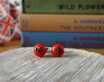 By the Shed Tomato Earrings - Fruit - Vegetables - Gardening - Gift - Unique Present - The Good Life - Vegetarian Gift - Healthy - Jewellery