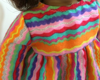 """SALE -18"""" AG Doll Clothes, Rainbow of Colors, SPARKLING Nightgown, Fits all 18 inch Dolls, Sparkling Colorful Nightgown, Ready For Bed!"""