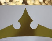 "Gold Foil Crown Decal [3.75 by 2.25""]"
