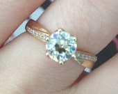 Asymmetrical Engagement Ring, Bypass Semi Mount, Modest Engagement Ring