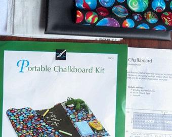Portable Roll Up Chalkboard Kit from Nancy's Notions, Easy Sew DIY Travel Chalkboard, Reusable Chalkboard Fabric
