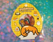 Yellow Gudetama Stickers Set / Kawaii Lazy Egg 60 Sticker Flakes / Transparent Stickers for Planners, Crafts, Scrapbooking, Stationary