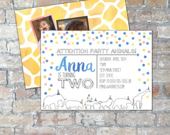 Party Animals Birthday Invite {Digital Item}