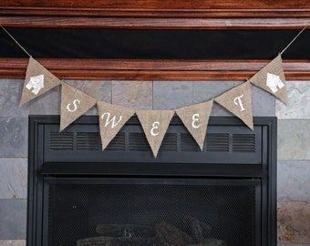 HOME SWEET HOME Banner | Housewarming Gift | Housewarming Party | Happy Housewarming Gift | Rustic Home Decor | Photo Shoot Prop | New Home
