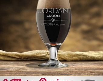 Personalized Beer Glasses – Groomsman Gifts