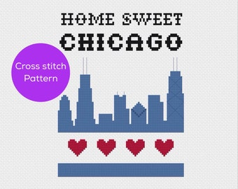 Home Sweet Chicago Cross Stitch
