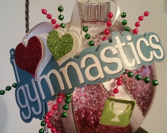 Gymnastics Christmas Ornament - I Love Gymnastics
