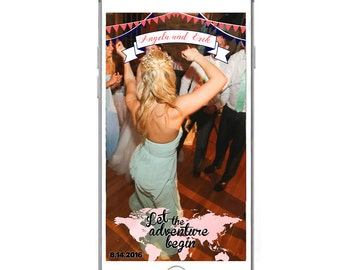 CUSTOM Snapchat GeoFilter for Weddings, Birthday Party, & other Parties- Digital Download