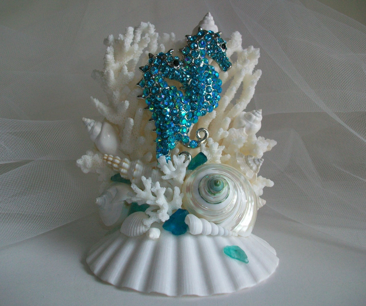 wedding cake topper beach theme theme seahorse wedding cake topper by 26295