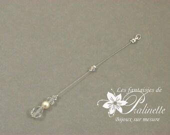 Bijoux mariage de dos en chaine et cristal, pendentif mariage de dos goutte en cristal, accessoires, Bridal backdrop necklace crystal