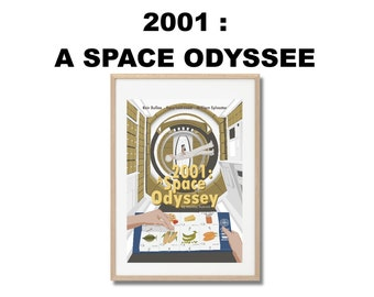 2001 A Space Odyssey Movie Print - Poster Stanley Kubrick A3