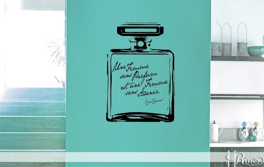 Coco Chanel Une Femme Sans Parfum Vinyl Wall Decal Wall