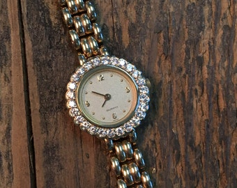 14k Gold Diamond Watch! Swiss Movement Hand Made in USA