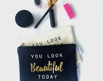 Best Makeup Bags - Makeup Bags with Sayings - Makeup Pouch - Bridesmaid Gift Ideas  - Bridesmaid Clutches -  Makeup Bags - Toiletry Bag