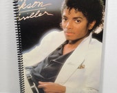 Michael Jackson Thriller Handmade Vintage Record Cover Notebook Album Jacket Journal Ephemera || Unique Gift