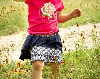 Vintage Rose Peplum Skirt - size 5/6