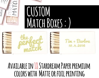 Personalized Matchboxes - Custom Made Matchboxes  as Wedding Favor - Country Wedding - Custom Matchbook -  Wedding Decor - Match Boxes