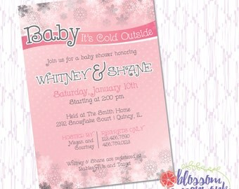 Baby It's Cold Outside - Printable Baby Shower Invitation