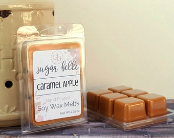 Scented Wax Melts - Soy Wax Tarts - Wax Cubes - Scented Tarts - Candle Melts - Soy Wax Melts - Homemade Natural Wax Melts - Caramel Apple