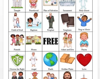 LDS General Conference BINGO Cards
