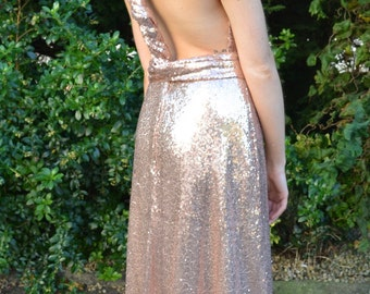 Custom made 'Kira' full sequin infinity gown that can be worn multiple ways