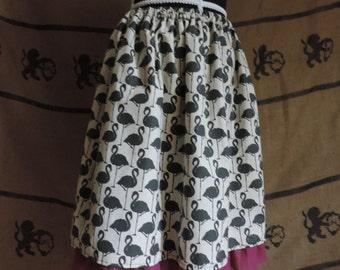 Flamingo silhouette skirt