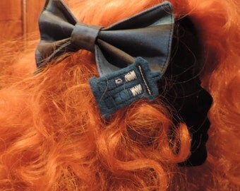 Tardis bow hair clip