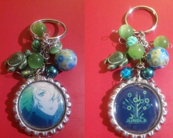 Nagare Hisui / Jungle [Double Sided] , K Project Bottle Cap Keychain