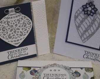 Card Class Kit ~ Navy Blue Embellished Ornaments