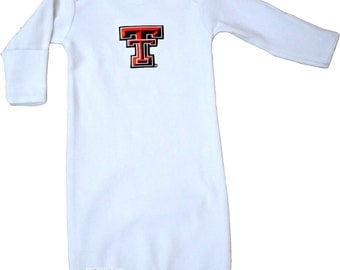 Texas Tech Red Raiders Baby Layette Gown