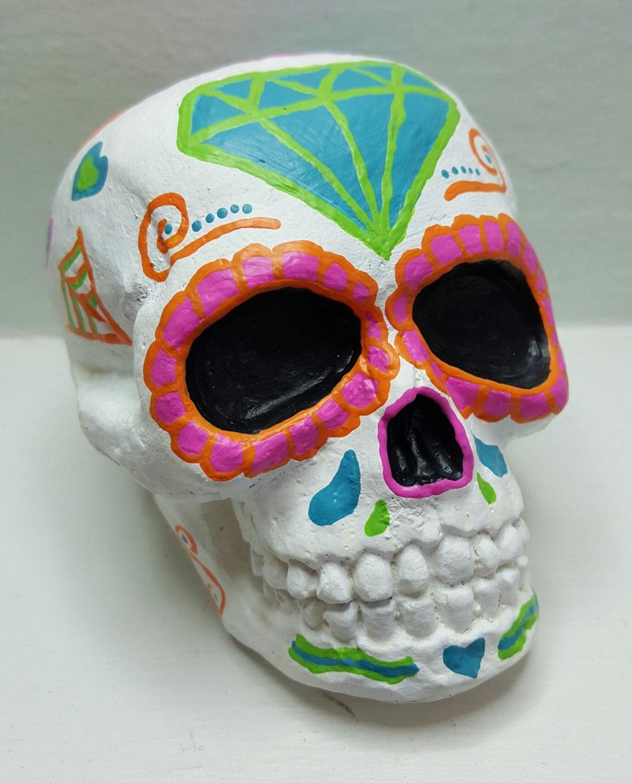 Sugar skull calavera home decor day of the dead skull dia for Skull home decor