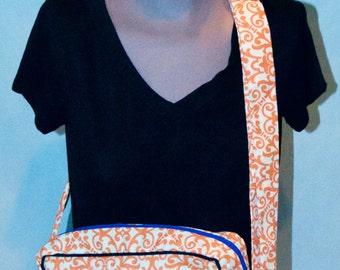 Orange Messenger Bag