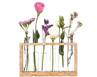 Test Tube Flower Vase- Home decor Vase - Wedding  / Shower  Test Tube Flower Rack