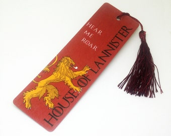 House Lannister: Game of Thrones bookmark