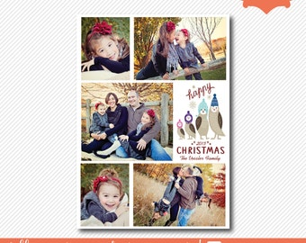 christmas photo card, chistmas picture card, holiday card, pengin christmas card, personalized family christmas card, DIY printable card