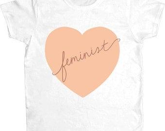 Feminist Heart -- Women's T-Shirt