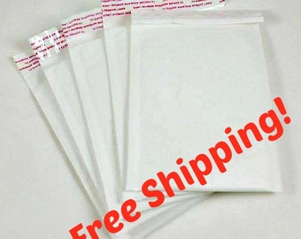 """4""""x8"""" 10 Pack White Self Sealing Poly Mailers - 10 PCS Bubble Mailers"""