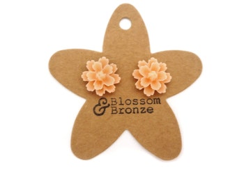 Peach Flower Studs | Studded Earrings