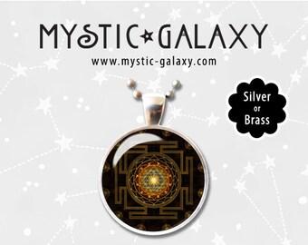 Mandala Necklace, Mandala Pendant, Boho Necklace, Hippie Jewelry, Yoga Necklace, Mandala #008