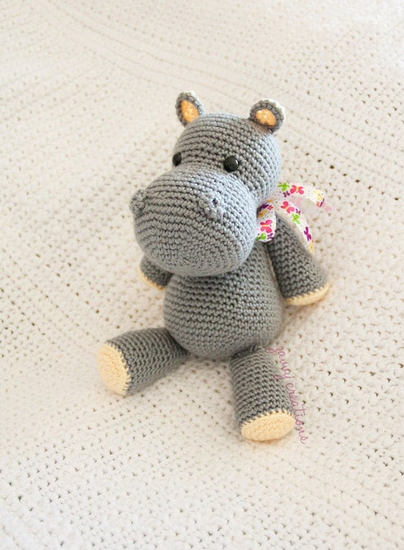 Amigurumi Hippo Made to Order