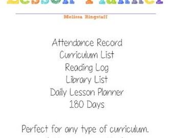 PDF: Homeschool Lesson Planner