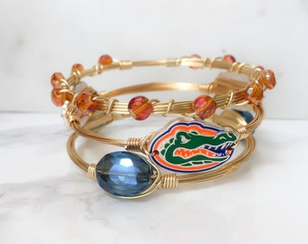 Florida Gators College Football Bangle Set // College Football // Game Day //
