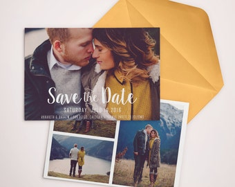 Save the Date Template for Photographers, Save the Date Card Announcement, Engagement Photography - Photoshop Templates - SD001