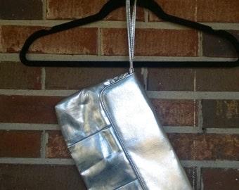Adorable Silver Medium Size Clutch