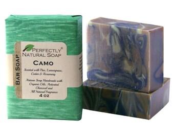 Camo All Natural Artisan Handmade Soap, 4 oz