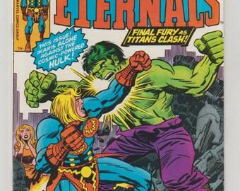 Eternals; Vol 1, 15, Bronze Age Comic Book. VF. September 1977. Marvel Comics